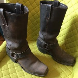 Frye motorcycle harness boots